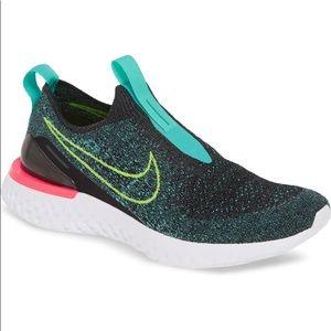 Nike Epic Phantom React Flyknit Shoes Black Volt